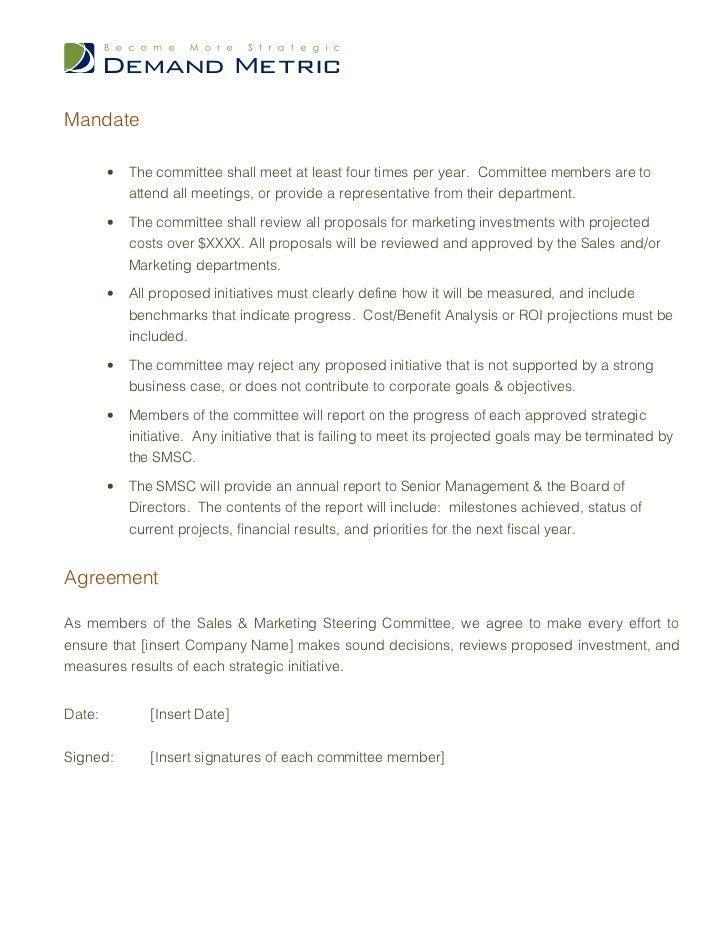 Steering Committee Charter Template
