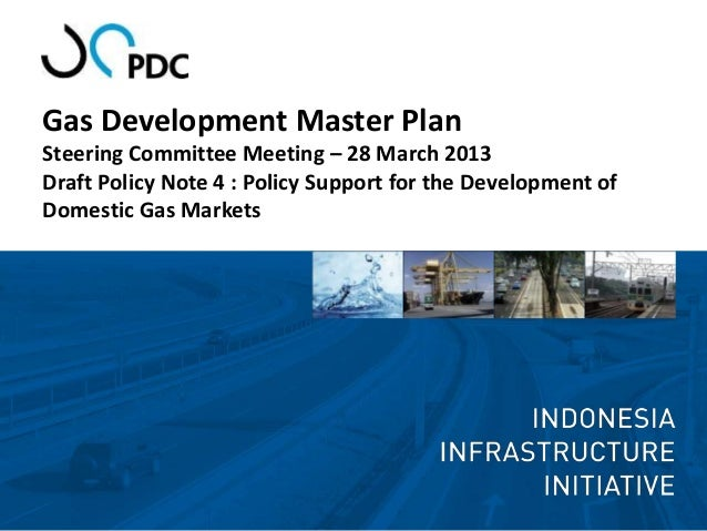Gas Development Master PlanSteering Committee Meeting – 28 March 2013Draft Policy Note 4 : Policy Support for the Developm...