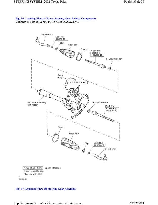 Prius Steering Diagram Wiring Schematic Diagram