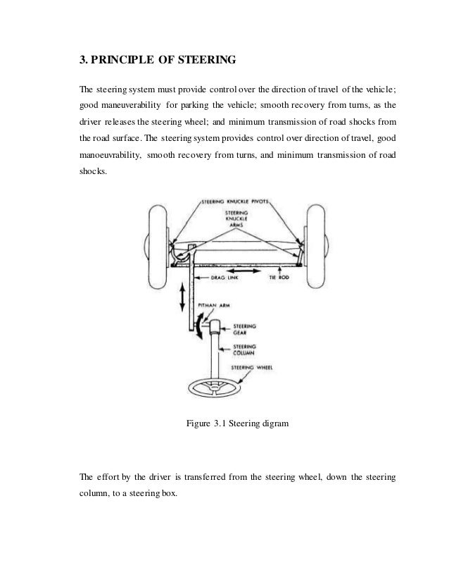 a project report on steering system