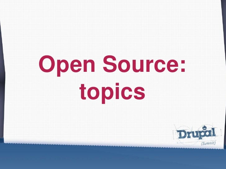Open Source: topics<br />