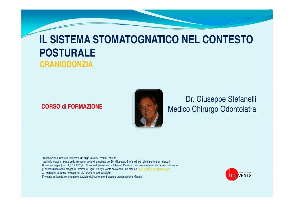 IL SISTEMA STOMATOGNATICO NEL CONTESTOPOSTURALECRANIODONZIA                                                               ...