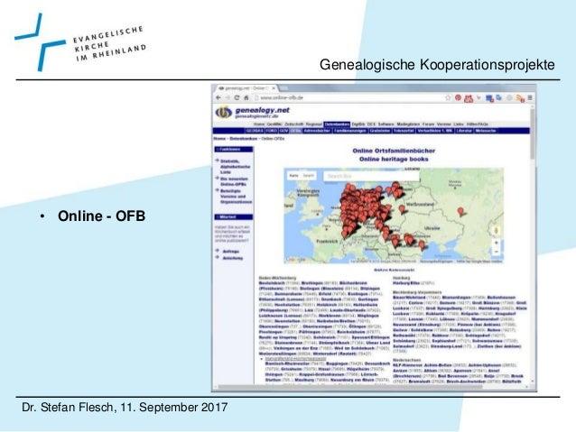• VeleHanden.nl Dr. Stefan Flesch, 11. September 2017 Genealogische Kooperationsprojekte