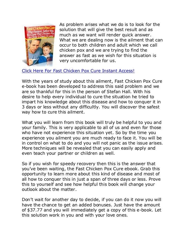 FAST CHICKEN POX CURE PDF DOWNLOAD