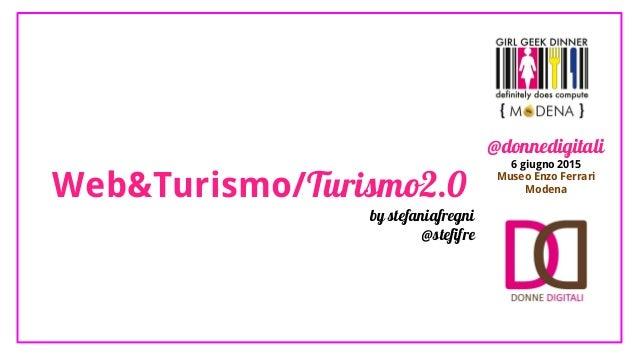 Web&Turismo/Turismo2.0 by stefaniafregni @stefifre @donnedigitali 6 giugno 2015 Museo Enzo Ferrari Modena