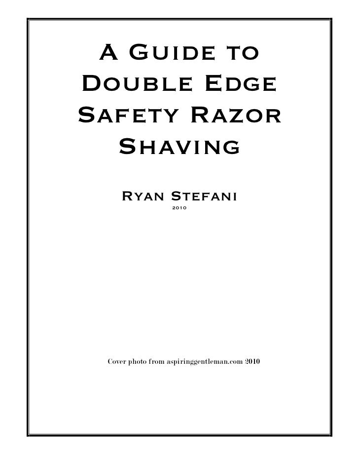 Technical Manual Writing Example Wet Shaving