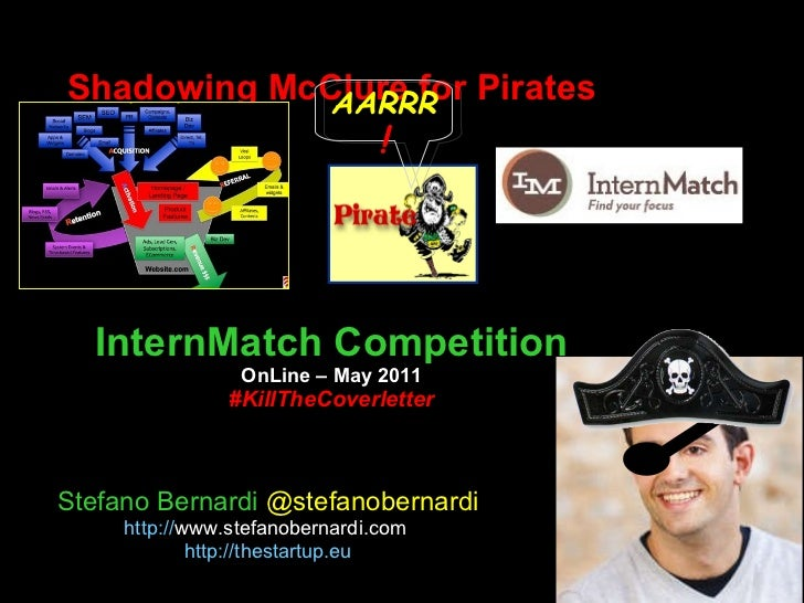 Shadowing McClure for Pirates InternMatch Competition OnLine – May 2011 #KillTheCoverletter Stefano Bernardi  @stefanobern...