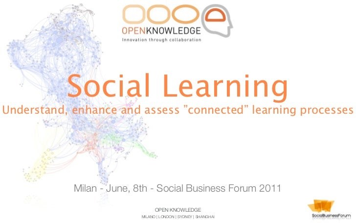 """Social LearningUnderstand, enhance and assess """"connected"""" learning processes            Milan - June, 8th - Social Busines..."""
