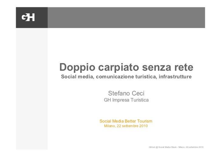 Doppio carpiato senza rete Social media, comunicazione turistica, infrastrutture                      Stefano Ceci        ...