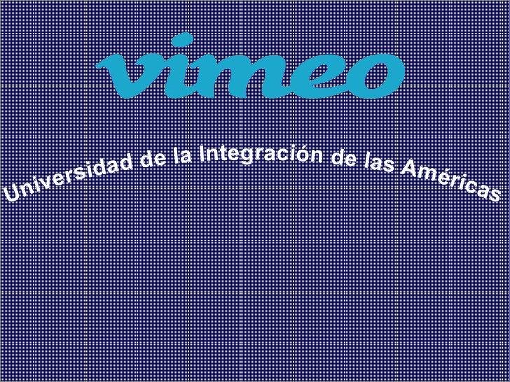 idad de la Integración de las Am     i v e rs                                 éric                                        ...