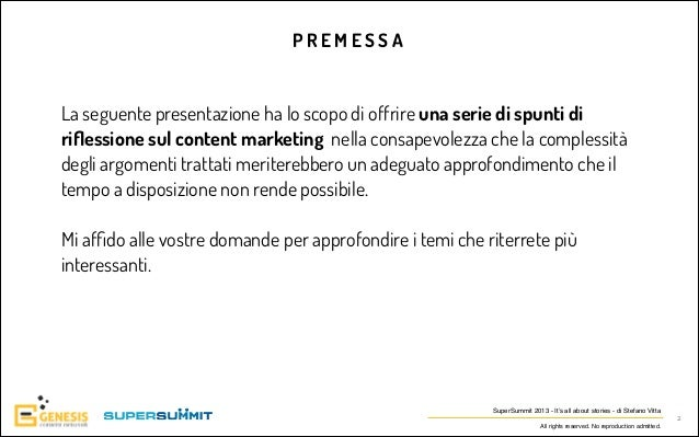 Stefano vitta super summit content marketing Slide 2