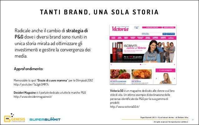 TA N T I B R A N D , U N A S O L A S T O R I A Radicale anche il cambio di strategia di P&G dove i diversi brand sono riun...