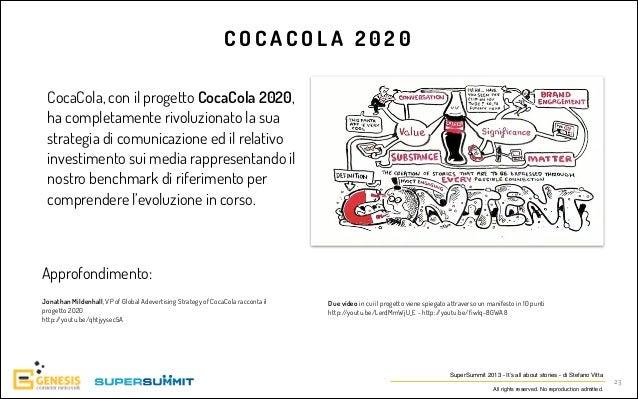 COCACOLA 2020 CocaCola, con il progetto CocaCola 2020, ha completamente rivoluzionato la sua strategia di comunicazione ed...