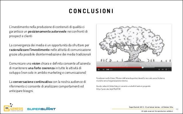 CONCLUSIONI L'investimento nella produzione di contenuti di qualità ci garantisce un posizionamento autorevole nei confron...