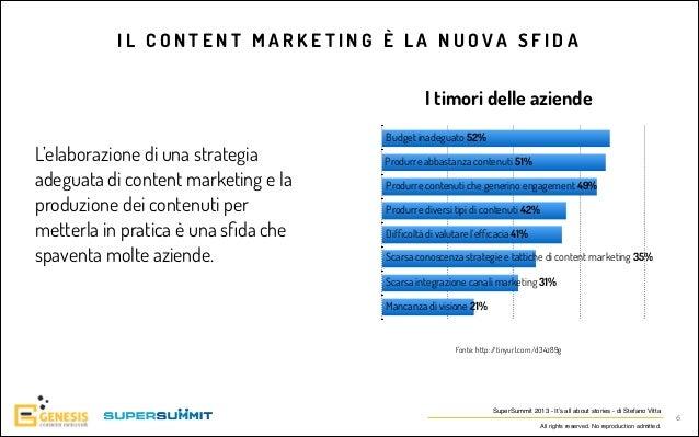 IL CONTENT MARKETING È LA NUOVA SFIDA  I timori delle aziende L'elaborazione di una strategia adeguata di content marketin...