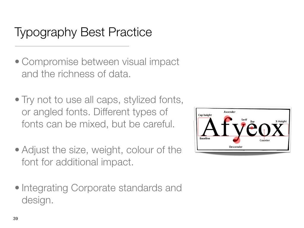typography best practice compromise between