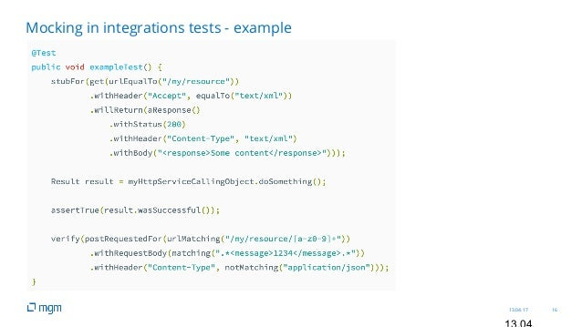 13.04.17 16 Mocking in integrations tests - example
