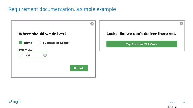 13.04.17 24 Requirement documentation, a simple example