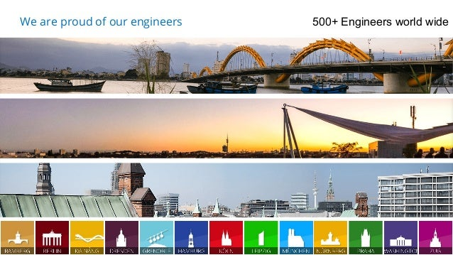 13.04.17 4 We are proud of our engineers 500+ Engineers world wide