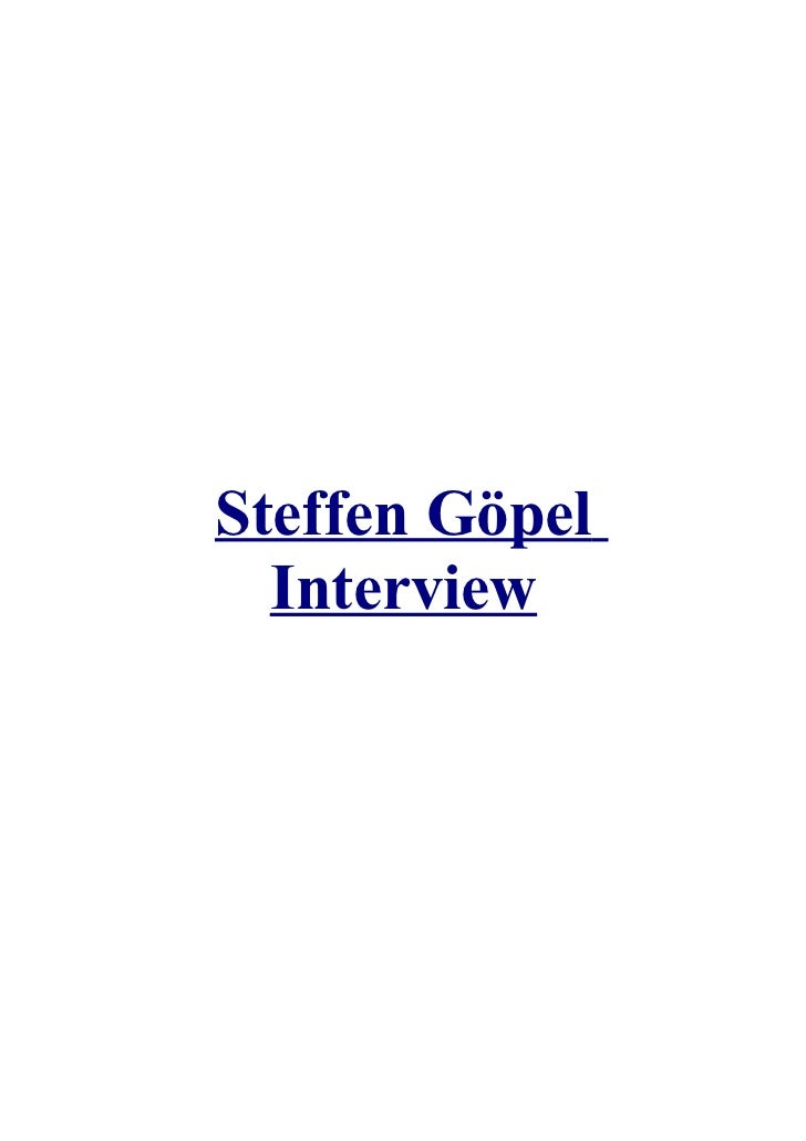 Steffen Göpel  Interview