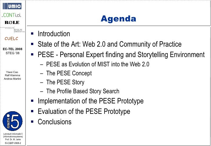 Collaborative Storytelling in the Web 2.0 Slide 2