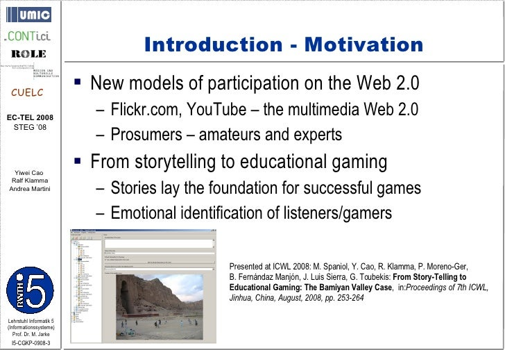 Collaborative Storytelling in the Web 2.0 Slide 3