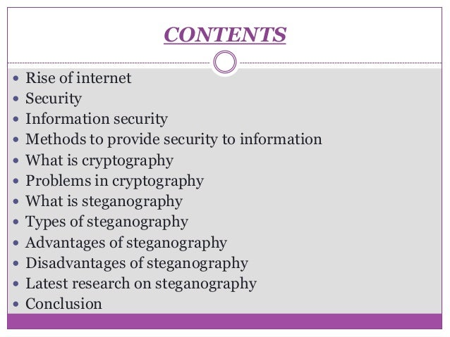 different uses of steganography