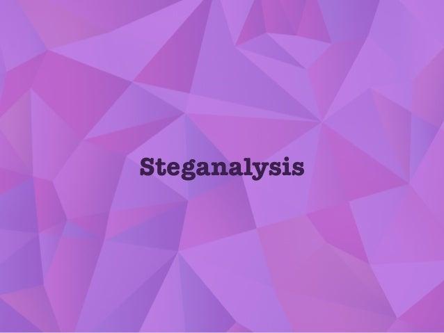 Steganalysis