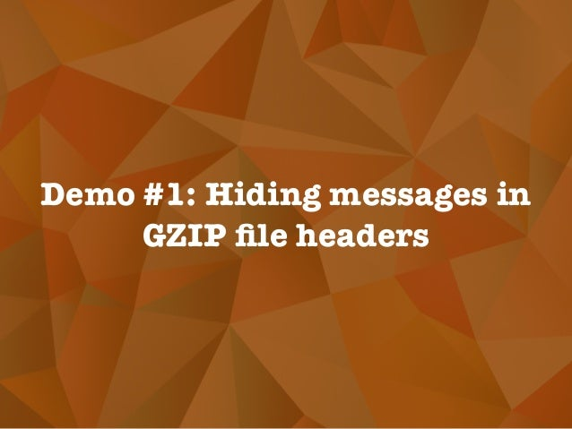 Demo #1: Hiding messages in GZIP file headers
