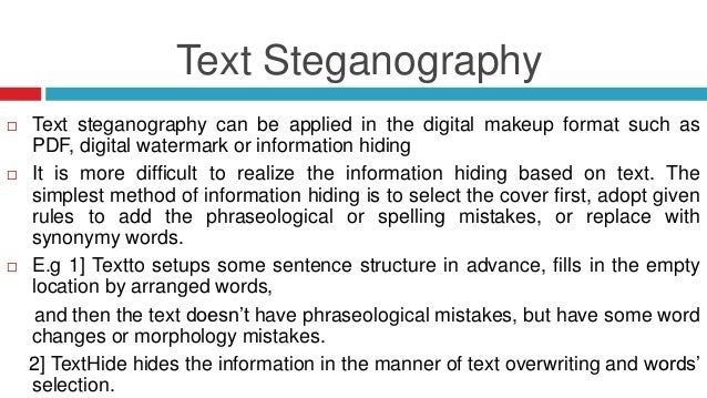 steganography using text embedding in sound