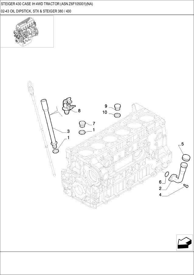 Steiger 430 CASE IH 4WD Tractor parts catalog