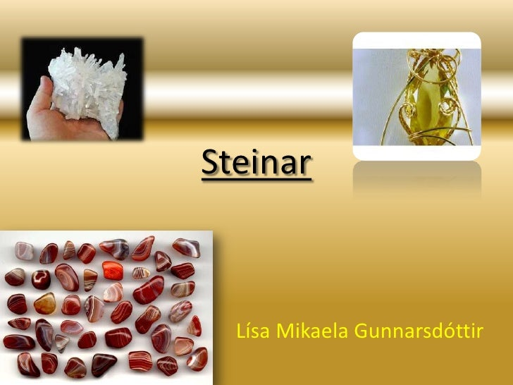 Steinar<br />Lísa Mikaela Gunnarsdóttir<br />