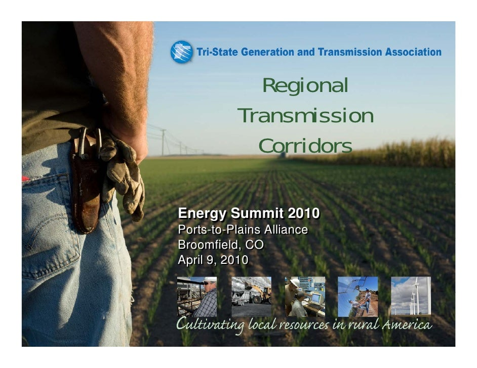 Regional           Transmission             Corridors  Energy Summit 2010 Ports-to-Plains Alliance Broomfield, CO April 9,...