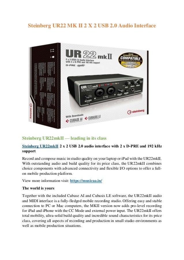 Steinberg UR22 MK II 2 X 2 USB 2 0 Audio Interface