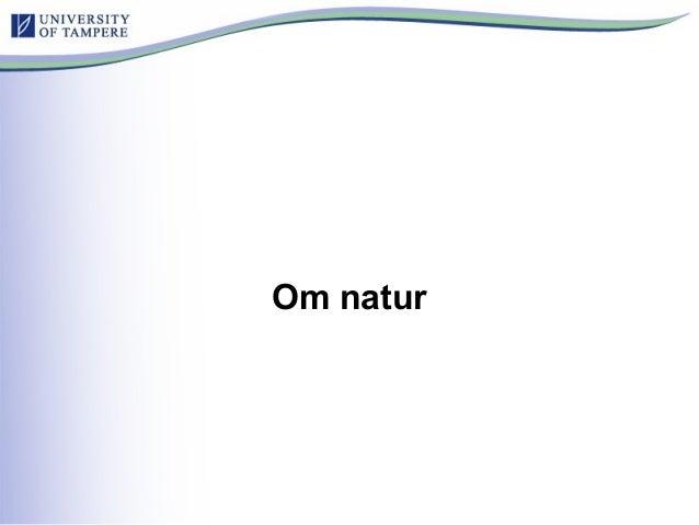 Om natur