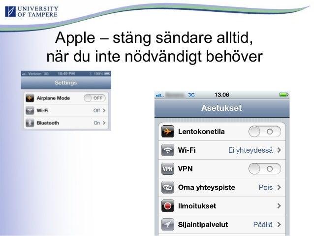 Apple – stäng sändare alltid, när du inte nödvändigt behöver