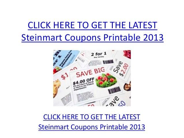 photo regarding Steinmart Printable Coupons named Steinmart Discount codes Printable 2013 - Steinmart Discount coupons