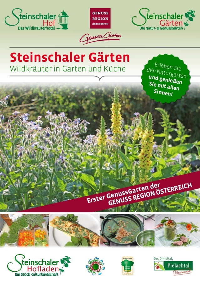 Steinschaler Gärten Wildkräuter in Garten und Küche Erleben Sieden Naturgartenund genießenSie mit allen Sinnen! Das Wildkr...