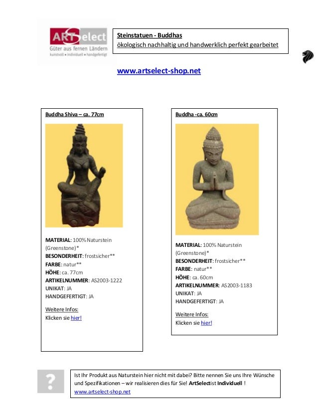 Steinstatuen - Buddhas ökologisch nachhaltig und handwerklich perfekt gearbeitet  www.artselect-shop.net  Buddha Shiva – c...