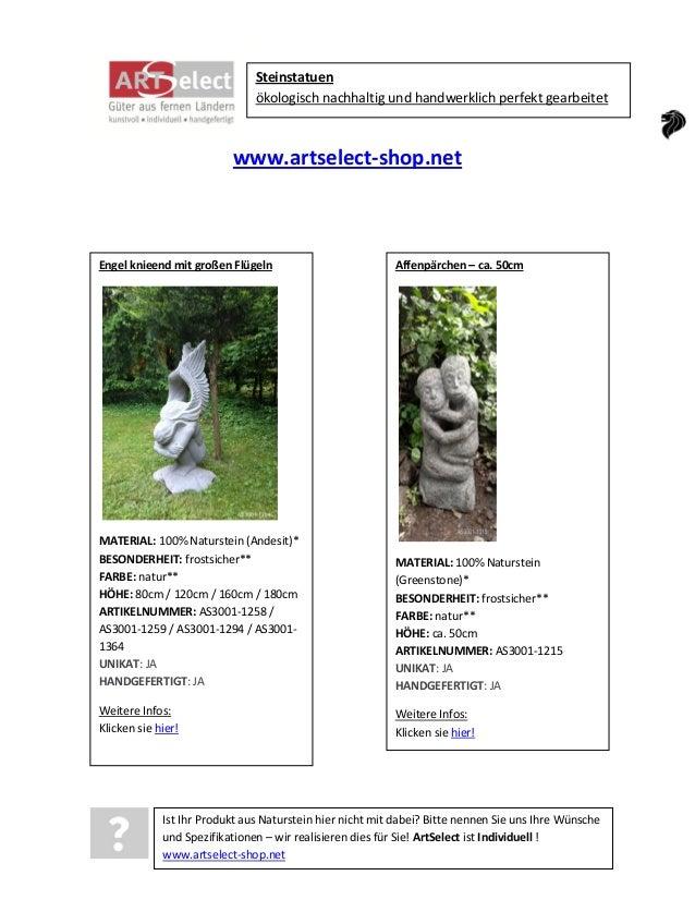 Steinstatuen ökologisch nachhaltig und handwerklich perfekt gearbeitet  www.artselect-shop.net  Engel knieend mit großen F...