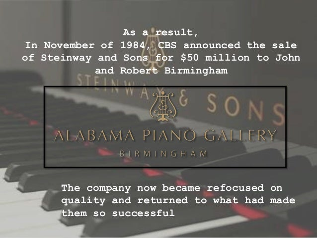 Steinway & Sons: Buying a Legend(A)