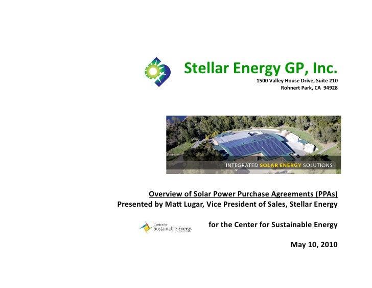 Stellar  Energy  GP,  Inc.                                                             1500  Valley  House  ...