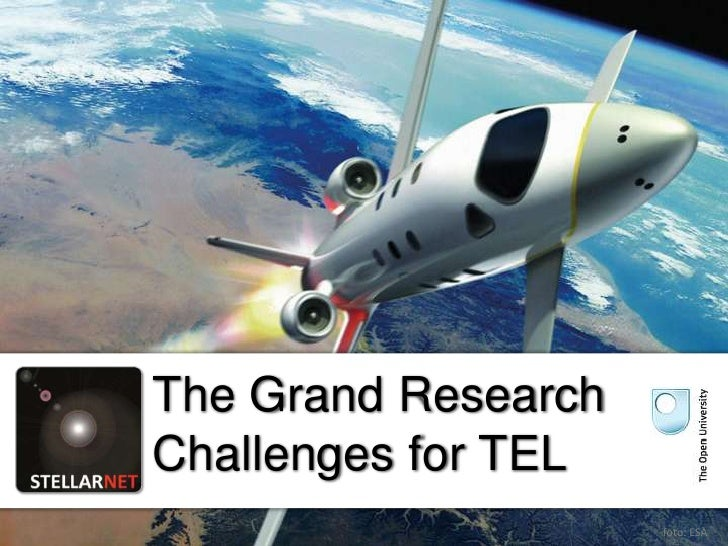 The Grand ResearchChallenges for TEL                     foto: ESA