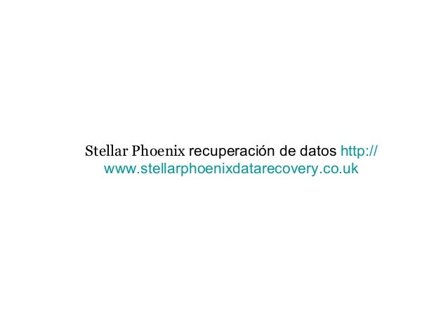Stellar Phoenix recuperación de datos http:// www.stellarphoenixdatarecovery.co.uk