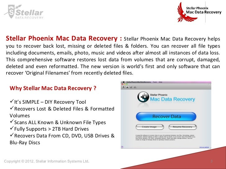 Stellar Mac Data Recovery Review