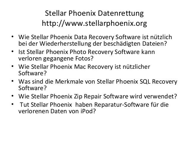 Stellar phoenix pst reparatur Slide 2