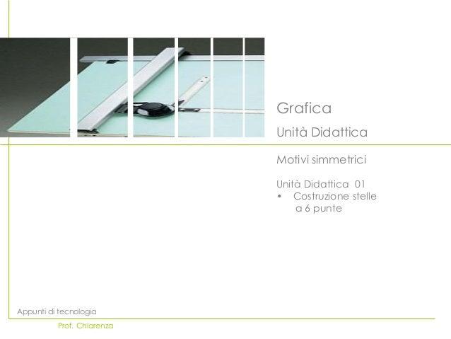 Grafica                            Unità Didattica                            Motivi simmetrici                           ...