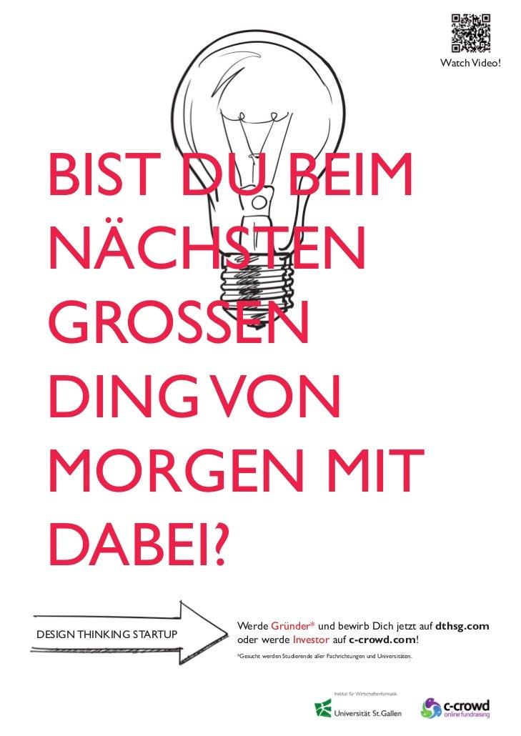 Stellenausschreibung f r das design thinking startup for Das design des esszimmers