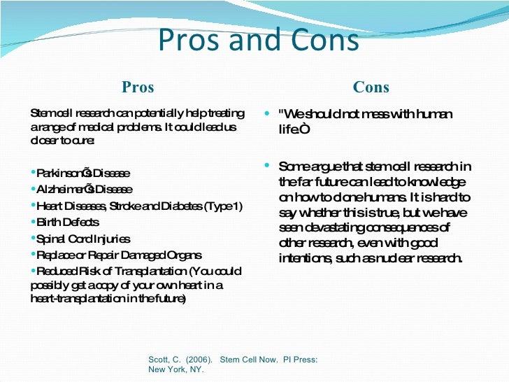 Stem cells pros and cons essay topics