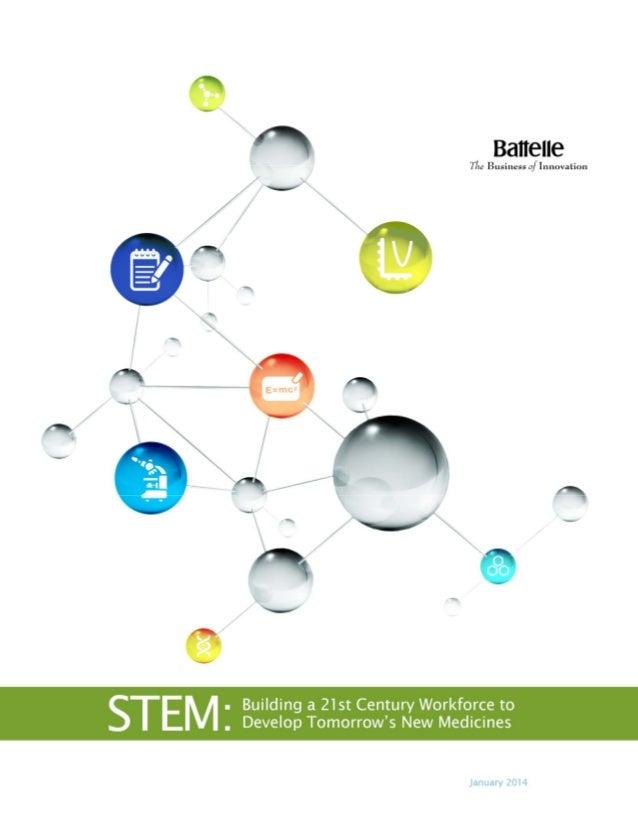 STEM: Building a 21st Century Workforce to Develop Tomorrow's New Medicines Slide 1